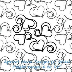 Digital Quilting Design Heart Fancy by Apricot Moon.