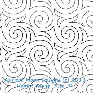 Digital Quilting Design Hot Cocoa by Apricot Moon.