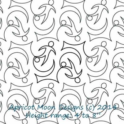 Digital Quilting Design Kicks by Apricot Moon.