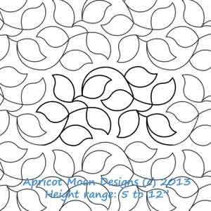 Digital Quilting Design Leafy Garland by Apricot Moon.