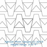 Digital Quilting Design Tumbler by Apricot Moon.