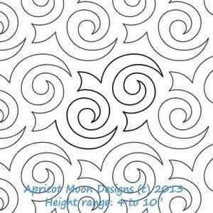 Turbulence Apricot Moon Digitized Quilting Designs