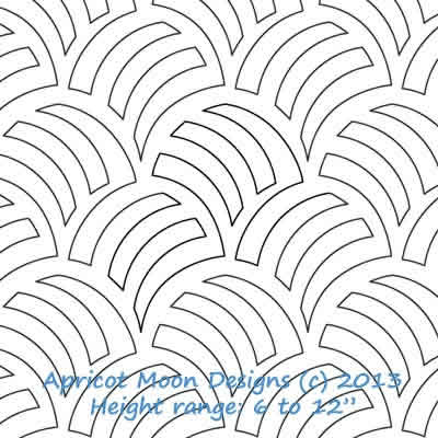Digital Quilting Design Woven Wind by Apricot Moon.