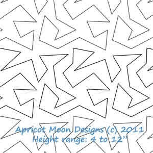 Digital Quilting Design Zig Zag by Apricot Moon.