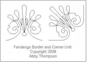 Digital Quilting Design Fandango Border and Corner Unit by Abby Thompson.