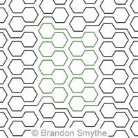 Digital Quilting Design Honeycomb Bars by Brandon Smythe.