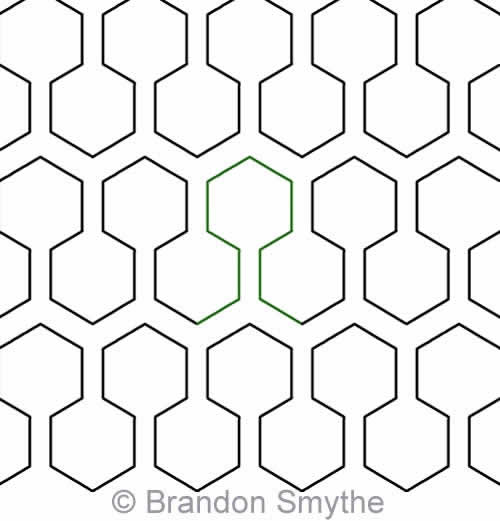 Honeycomb Effect | Brandon Smythe | Digitized Quilting Designs : digital quilting - Adamdwight.com