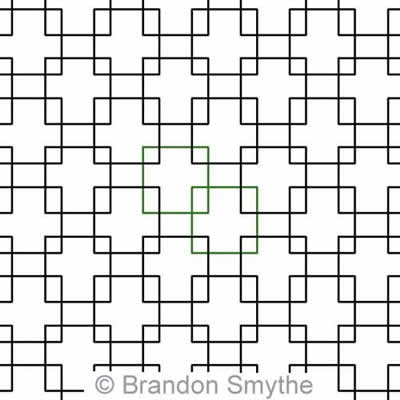 Digital Quilting Design Simple Squares by Brandon Smythe.