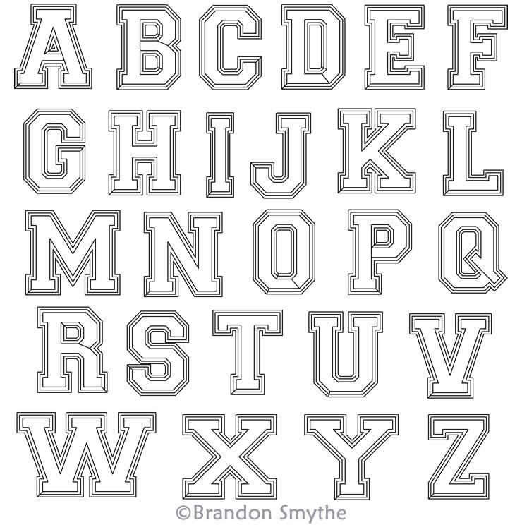 Varsity Letters Alphabet Brandon Smythe