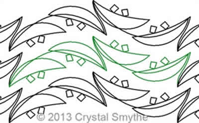 Digital Quilting Design Diastema 2 by Crystal Smythe.