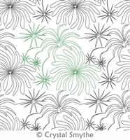 Digital Quilting Design Fireworks by Crystal Smythe.