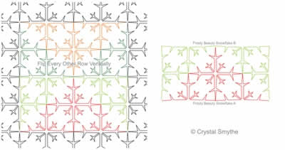 Digital Quilting Design Frosty Beauty Snowflake by Crystal Smythe.
