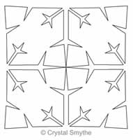 Digital Quilting Design Frosty Beauty Snowflake Block Simple by Crystal Smythe.