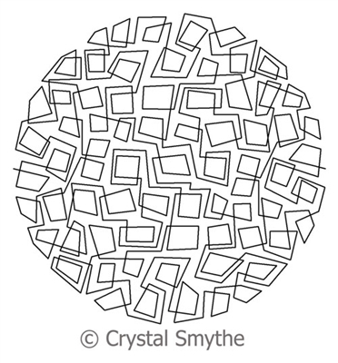 Digital Quilting Design Ice Cubes Continuous Circle by Crystal Smythe.