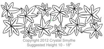 Digital Quilting Design Japanese Maple by Crystal Smythe.
