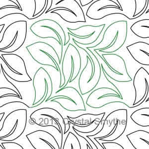 Digital Quilting Design Crystal's Lovely Leaves by Crystal Smythe.