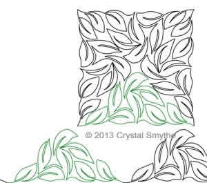 Digital Quilting Design Crystal's Lovely Leaves Continuous Triangle by Crystal Smythe.