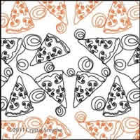 Digital Quilting Design Pizza Party by Crystal Smythe.