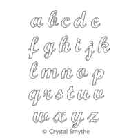 Digital Quilting Design Script Alphabet LC by Crystal Smythe.