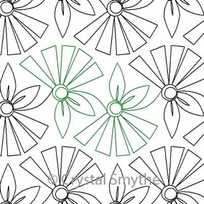 So Chic Blooms Crystal Smythe Digitized Quilting Designs