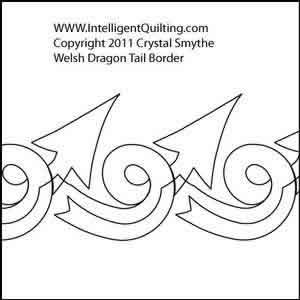 Welsh Dragon Tail Border Crystal Smythe Digitized