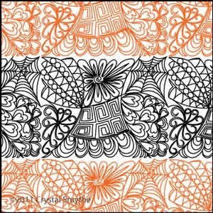 Digital Quilting Design Zendoodle 4 by Crystal Smythe.