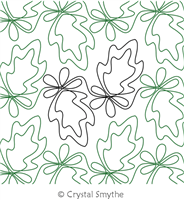 Splashy Leaf by Crystal Smythe. This image demonstrates how this computerized pattern will stitch out once loaded on your robotic quilting system. A full page pdf is included with the design download.