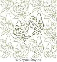 Spring Dreams by Crystal Smythe. This image demonstrates how this computerized pattern will stitch out once loaded on your robotic quilting system. A full page pdf is included with the design download.