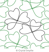 Twisted Shamrock by Crystal Smythe. This image demonstrates how this computerized pattern will stitch out once loaded on your robotic quilting system. A full page pdf is included with the design download.