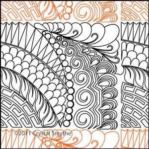 Digital Quilting Design Zendoodle 5 by Crystal Smythe.