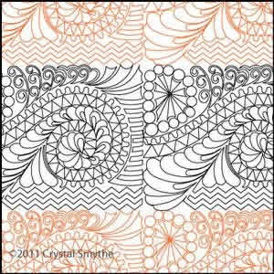 Digital Quilting Design Zendoodle 6 by Crystal Smythe.