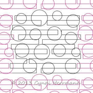 Digital Quilting Design Circles and Lines by Cyndi Herrmann.