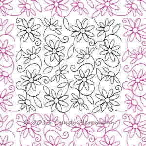 Digital Quilting Design Cyndi's Daisy Swirl by Cyndi Herrmann.