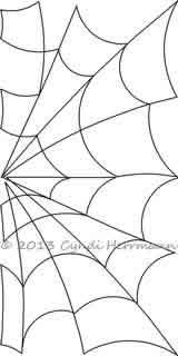 spider web half block cyndi herrmann digitized quilting designs