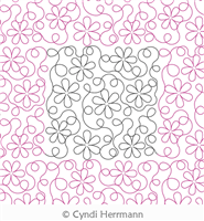 Loop de Daisy by Cyndi Herrmann. This image demonstrates how this computerized pattern will stitch out once loaded on your robotic quilting system. A full page pdf is included with the design download.