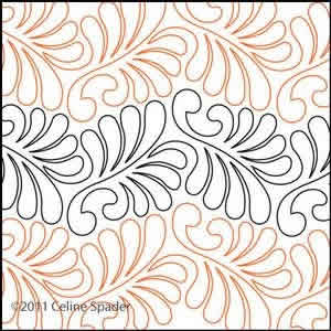 Digital Quilting Design Easy Does It Feather by Celine Spader.