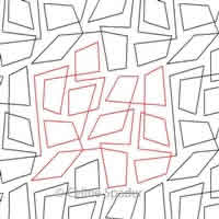 Digital Quilting Design Not Square Pantograph by Celine Spader.