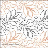 Digital Quilting Design Windblown Leaves Simple Panto 2 by Celine Spader.