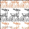 Digital Quilting Design Christmas Reindeer Border Panto 1 by Celine Spader.