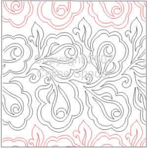 Digital Quilting Design Coming Up Roses by Celine Spader.
