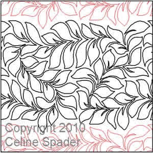 Digital Quilting Design Lavish Leaves by Celine Spader.