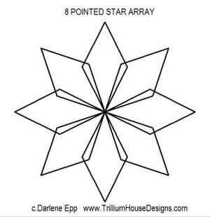Digital Quilting Design 8 Pointed Star Array by Darlene Epp.