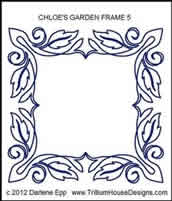 Digital Quilting Design Chloe Garden Frame 5 by Darlene Epp.