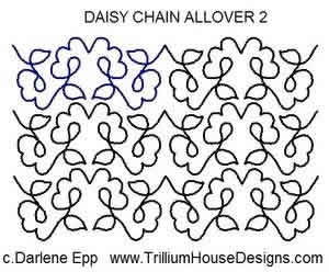 Digital Quilting Design Daisy Chain Allover 2 by Darlene Epp.