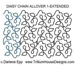 Digital Quilting Design Daisy Chain Allover 1 Extended by Darlene Epp.