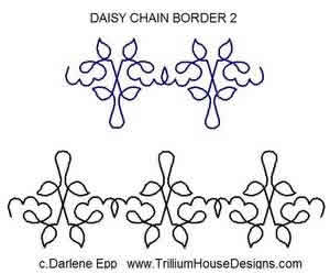 Digital Quilting Design Daisy Chain Border 2 by Darlene Epp.