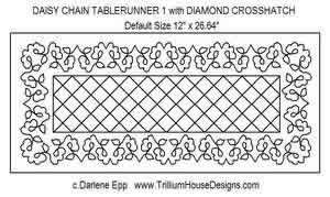 Digital Quilting Design Daisy Chain Table Runner 1 by Darlene Epp.