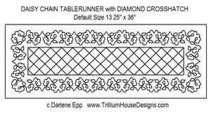Digital Quilting Design Daisy Chain Table Runner 2 by Darlene Epp.