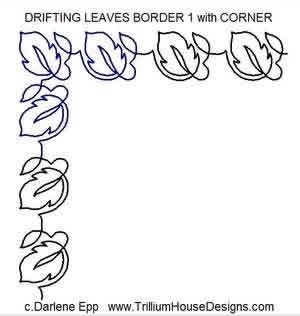 Digital Quilting Design Drifting Leaves Border 1 Corner By Darlene