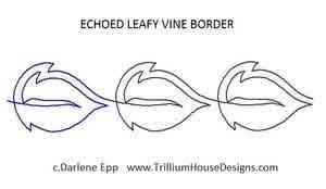 Digital Quilting Design Echoed Leafy Vine Border by Darlene Epp.